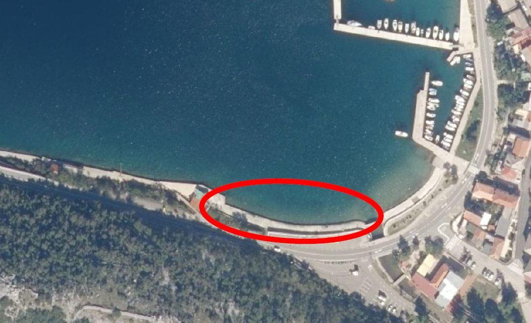 Početak radova na sanaciji obalnog platoa u Bakarcu na dijelu k.č. 1346/7, k.o. Bakarac